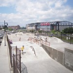 Skate park at Sands Bethlehem after construction