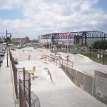 Skate park at Sands Bethlehem after construction