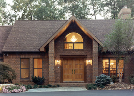 custom home entrance designed by Architect